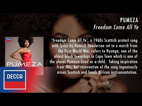 Pumeza - Freedom Come All Ye - As seen on the 2014 Commonwealth Games Opening Ceremony!