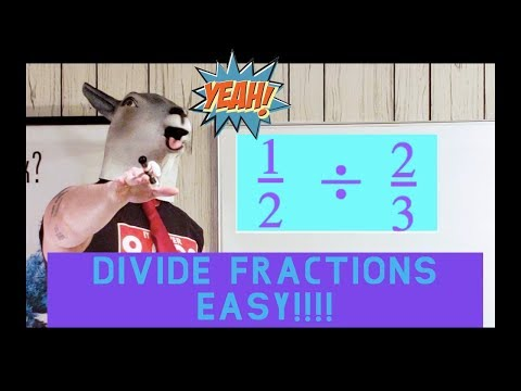 The GOAT Teaches Math.  How to divide fractions easy!!