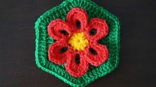 """Шестиугольный мотив """"Цветок""""/ Hexagon motif"""