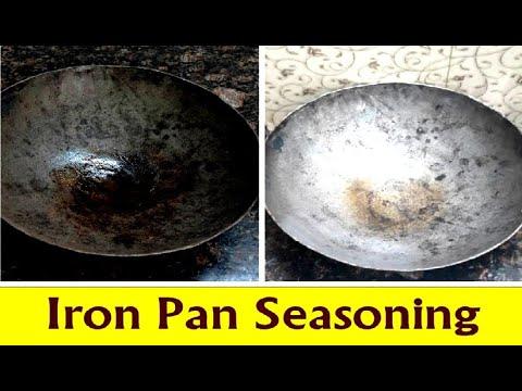   Iron Pan Seasoning   Iron Kadai Seasoning   இரும்பு கடாய் பழக்கப்படுத்துதல்