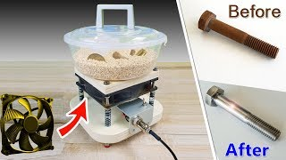 Buratto fai da te CON VENTOLA  - Tumbler Machine DIY With FAN,  low noise