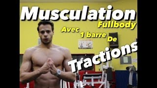 MUSCULATION intense et COMPLETE avec une BARRE traction by Bodytime