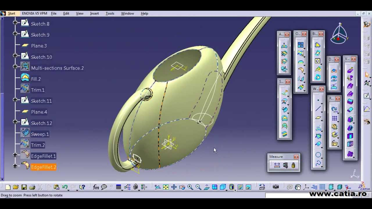 catia v5 surface tutorial for a watering can 123vid. Black Bedroom Furniture Sets. Home Design Ideas