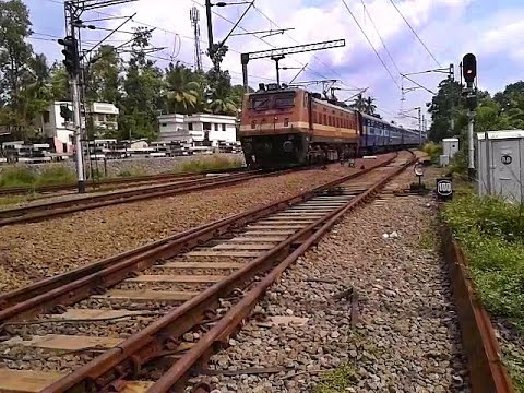 Trivandrum - Guwahati Express arrives Tiruvalla