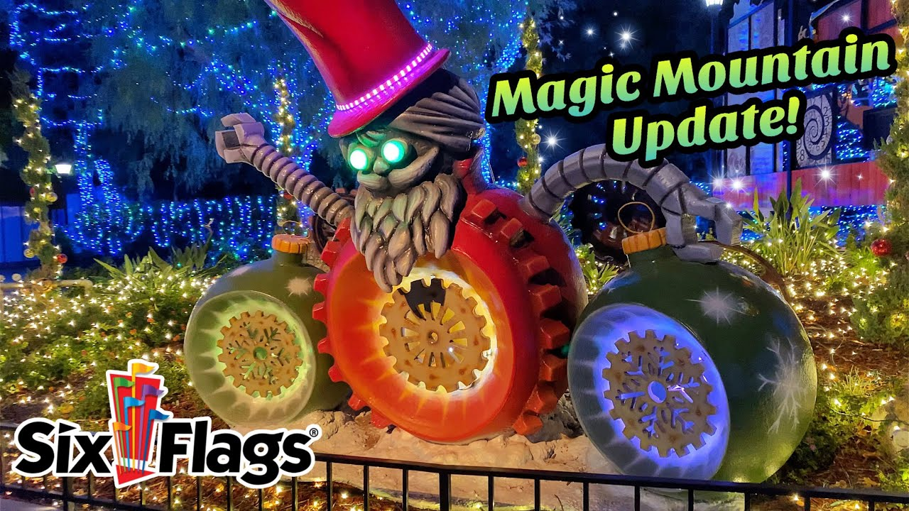 Magic Mountain During Christmas 2020 Holiday in the Park Food and Fun! | Six Flags Magic Mountain   YouTube