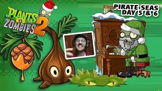 PVZ 2 Feastivus! The SAP FLING! + Pirate Seas Day 5 & 6 (Plants vs. Zombies Christmas Gameplay)