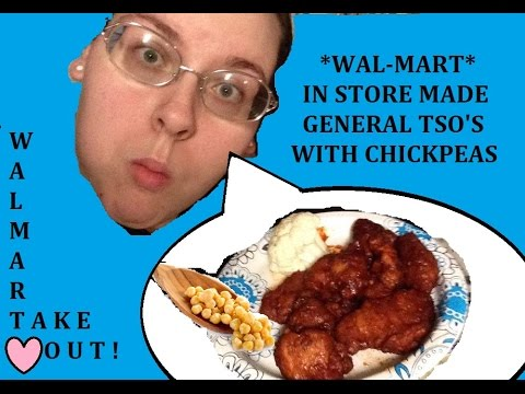 WALMART TAKEOUT WITH CHICKPEAS MUKBANG