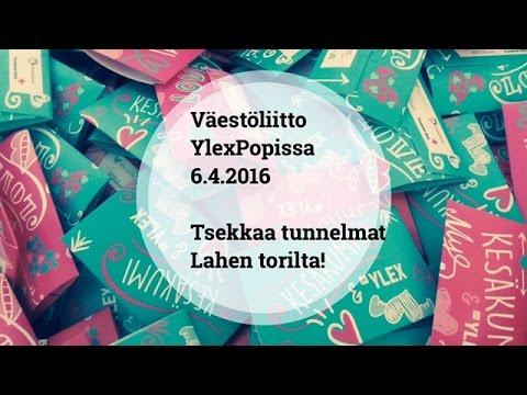 Väestöliitto YleX Popissa 4.6.2016 Lah(d)essa