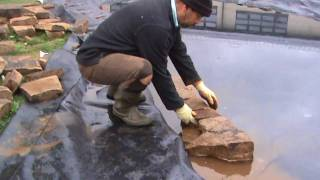 How to Build a Wildlife Pond: Part 3 - Installing the Dry Stone Wall