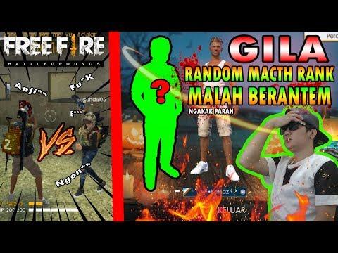 TOP GLOBAL BACOT BERANTEM DI RANDOM MATCH RANK PART 6 (NGAKAK ONLINE) - FREE FIRE INDONESIA