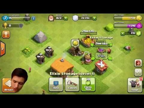 Clash for Clans level 1 New Start level 1 part 1
