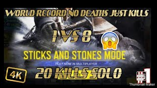 NEW WORLD RECORD | STICK & STONE NEW MODE | COD MOBILE | HS 🖤✌️
