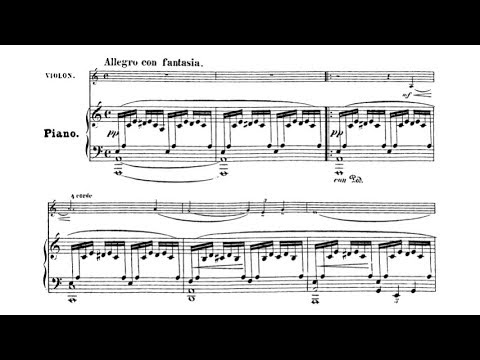 Ignacy Jan Paderewski  - Violin Sonata Op. 13 (audio + sheet music)