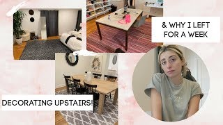 DECORATING THE UPSTAIRS FINALLY! MOVING VLOG! | Lauren Elizabeth