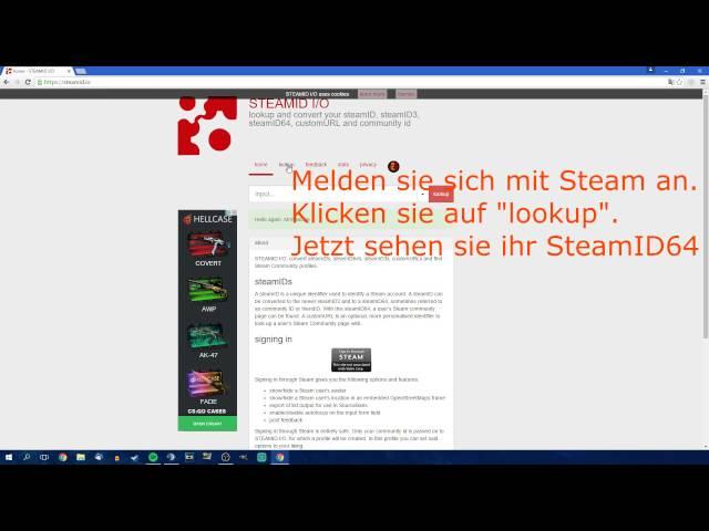 SteamID64 rausbekommen ||Deutsch||HD||