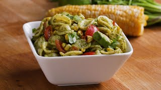 Grilled Corn Summer Pasta Salad