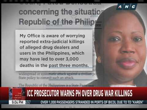 ICC prosecutor warns PH over drug war killings