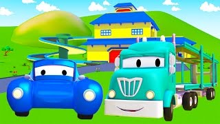 The Car Carrier and his friends in Car City | Cars & Trucks construction cartoon (for children)