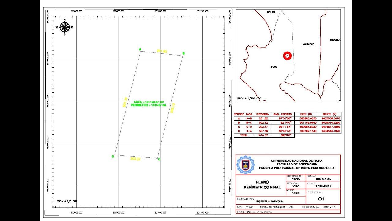 Localización De Una Casa En El Mapa: PLANO PERIMETRICO GEOREFERENCIADO