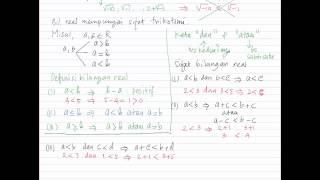 sistem bilangan real