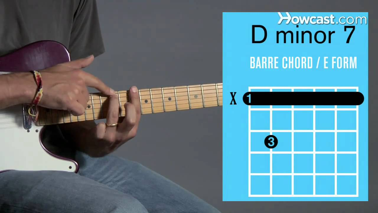 How To Play A D Minor 7 Barre Chord Guitar Lessons Youtube