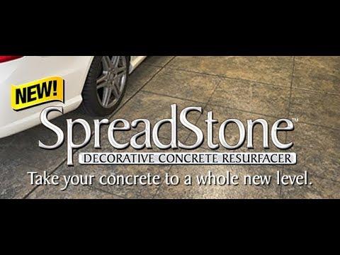 Spreadstone Decorative Concrete Kit Garage Floor How