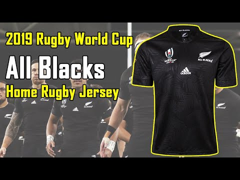 New All Black Rugby World Cup Japan 2019 Jersey