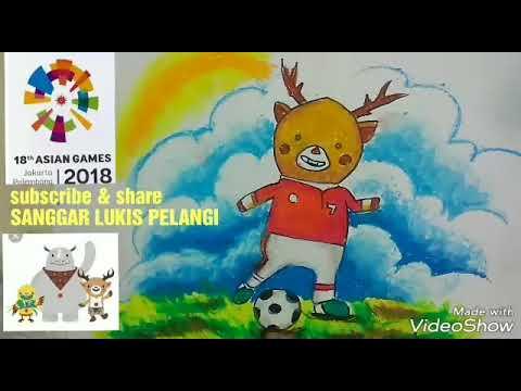 Cara Menggambar Dan Mewarnai Maskot Asian Games 2018 Drawing Icon