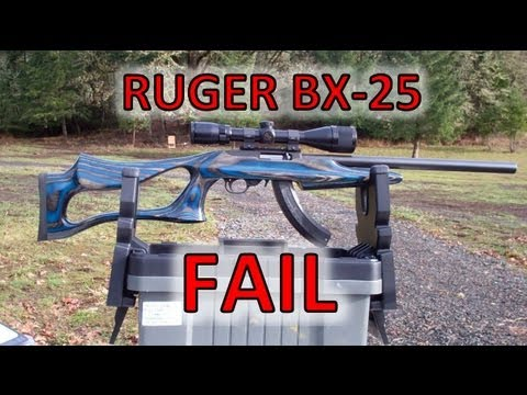 Ruger BX-25 Magazine FAIL (magazine for 10/22 rifle )