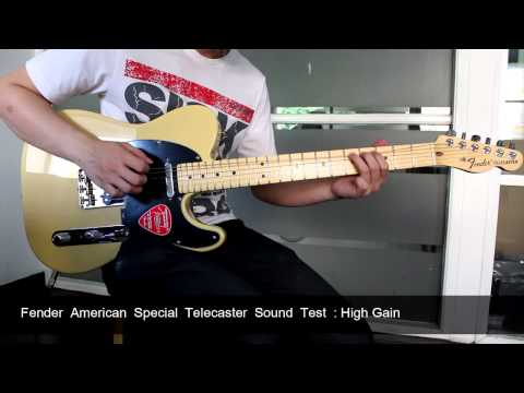 Fender American Special Telecaster  Sound Test