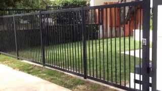 Celebrity Iron And Wood Gate Installation Toluca Lake California