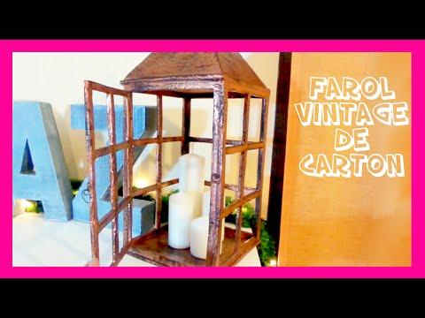linterna porta velas o farolillo vintage de cartn navideas fciles