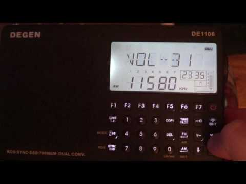 Radio Ukraine via WRMI on Degen DE 1106 Shortwave receiver