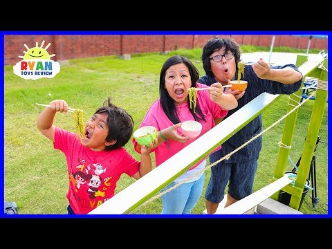 DIY Japanese Bamboo Noodle Slide Family Fun Activities
