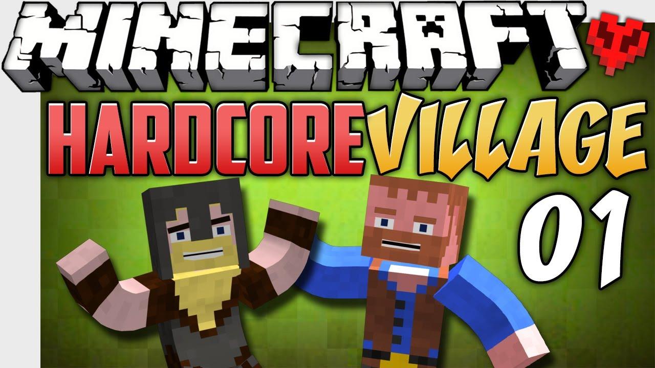 Minecraft hardcore village spawntastic ep1 youtube minecraft hardcore village spawntastic ep1 sciox Images