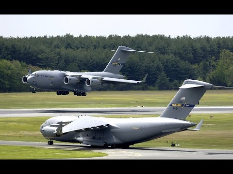 C-17 Globemaster and C-130 Hercules Flypast at RAF Wittering