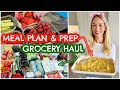 MEAL PLAN, MEAL PREP & GROCERY HAUL |  FAMILY OF 5 - EASY MEALS  |  Emily Norris