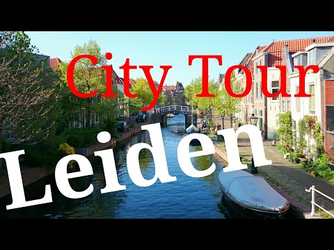 Leiden, The Netherlands (City Center Tour) Walking and Cycling.. GoPro
