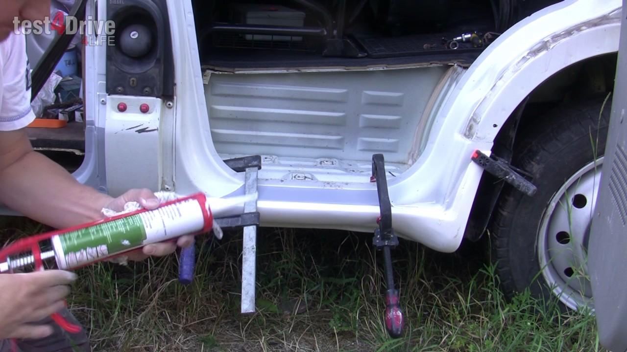 Монтаж защитного порога на Renault Master/ Opel Movano