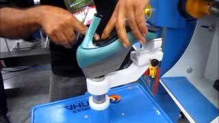 Compressão de máquina sapatos de