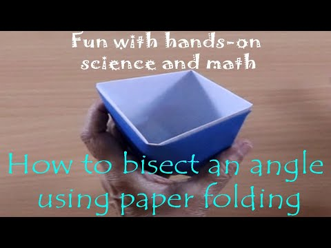 How to bisect an angle using paper folding | English