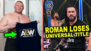 Brock Lesnar Leaves WWE for AEW & Roman Reigns Loses Universal Title - 5 WWE Rumors 2020