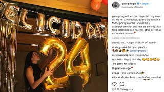Georgina celebra su 24 cumpleaños sin Cristiano