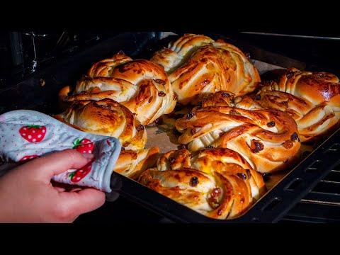 je-prépare-2-portions-de-ces-pains-aux-raisins-secs-légers,-moelleux-et-savoureux!|-savoureux.tv