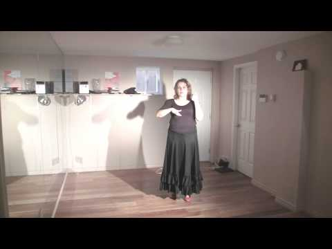 Technical Excercise for flamenco footwork #2 (flamenco dance lessons)