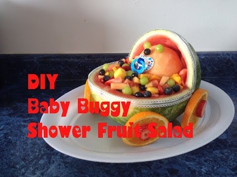 DIY Baby Buggy Fruit Salad for a Baby Shower