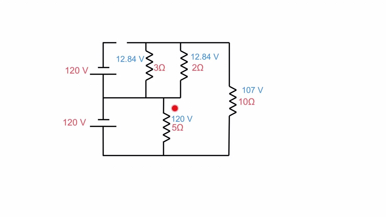 How to determine the voltage across a line break (3 wire