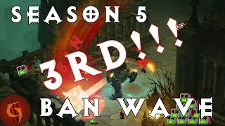 Diablo 3 Season 5 THIRD Ban Wave Stats