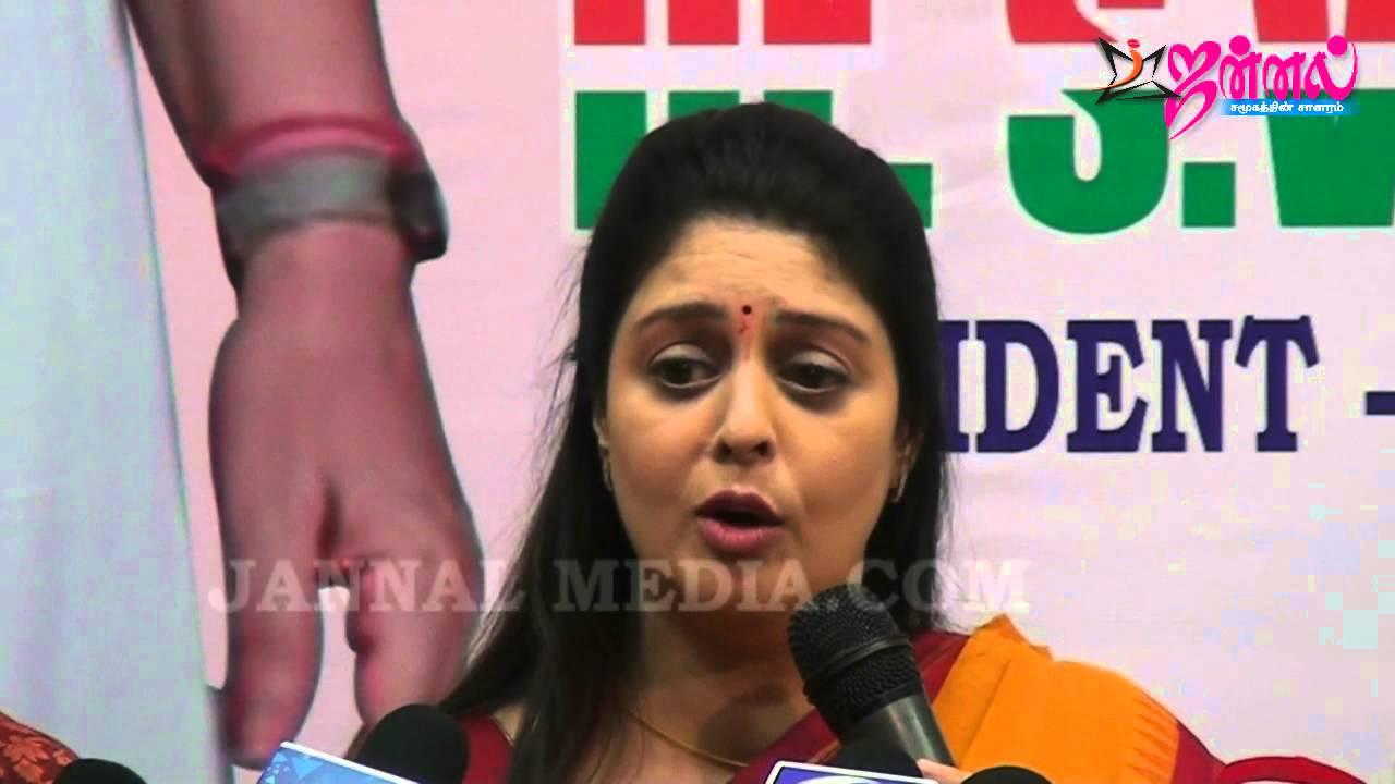 Kushboo Tamil Hot Ideal actress nagma, kushboo press meet   evks elangovan pressmeet with