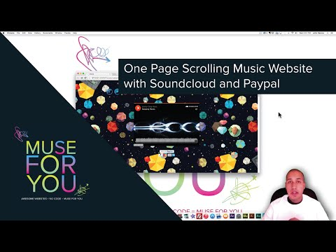 Adobe Muse CC 20143  One Page Scrolling Music Website  SoundCloud and PayPal  Muse For You